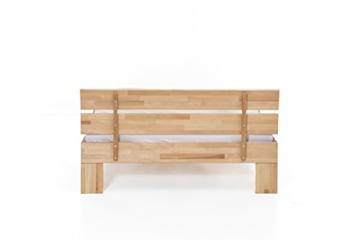 WOODLIVE DESIGN BY NATURE Massivholz-Bett Nano 140 x 200 cm aus Kernbuche, Doppelbett, als Ehebett verwendbar, inkl. Rückenlehne, 1 Bett á 140 x 200 cm - 5
