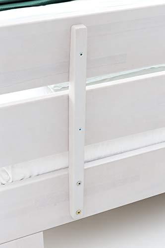 WOODLIVE DESIGN BY NATURE Massivholz-Bett Nano weiß 160 x 200 cm aus Kernbuche, Doppelbett, als Ehebett verwendbar, inkl. Rückenlehne, 1 Bett á 160 x 200 cm - 6