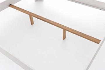 WOODLIVE DESIGN BY NATURE Massivholz-Bett Nano weiß 160 x 200 cm aus Kernbuche, Doppelbett, als Ehebett verwendbar, inkl. Rückenlehne, 1 Bett á 160 x 200 cm - 7